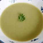 グリンピースと蟹のスープ